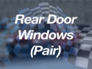 Rover SD1 5dr - Polycarbonate Rear Door Windows (pair)