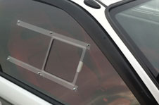 slider in polycarbonate window